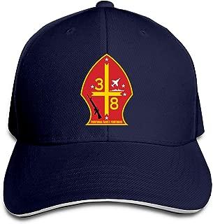 3rd Battalion 8th Marine Regiment Adjustable Baseball Caps Vintage Sandwich Cap