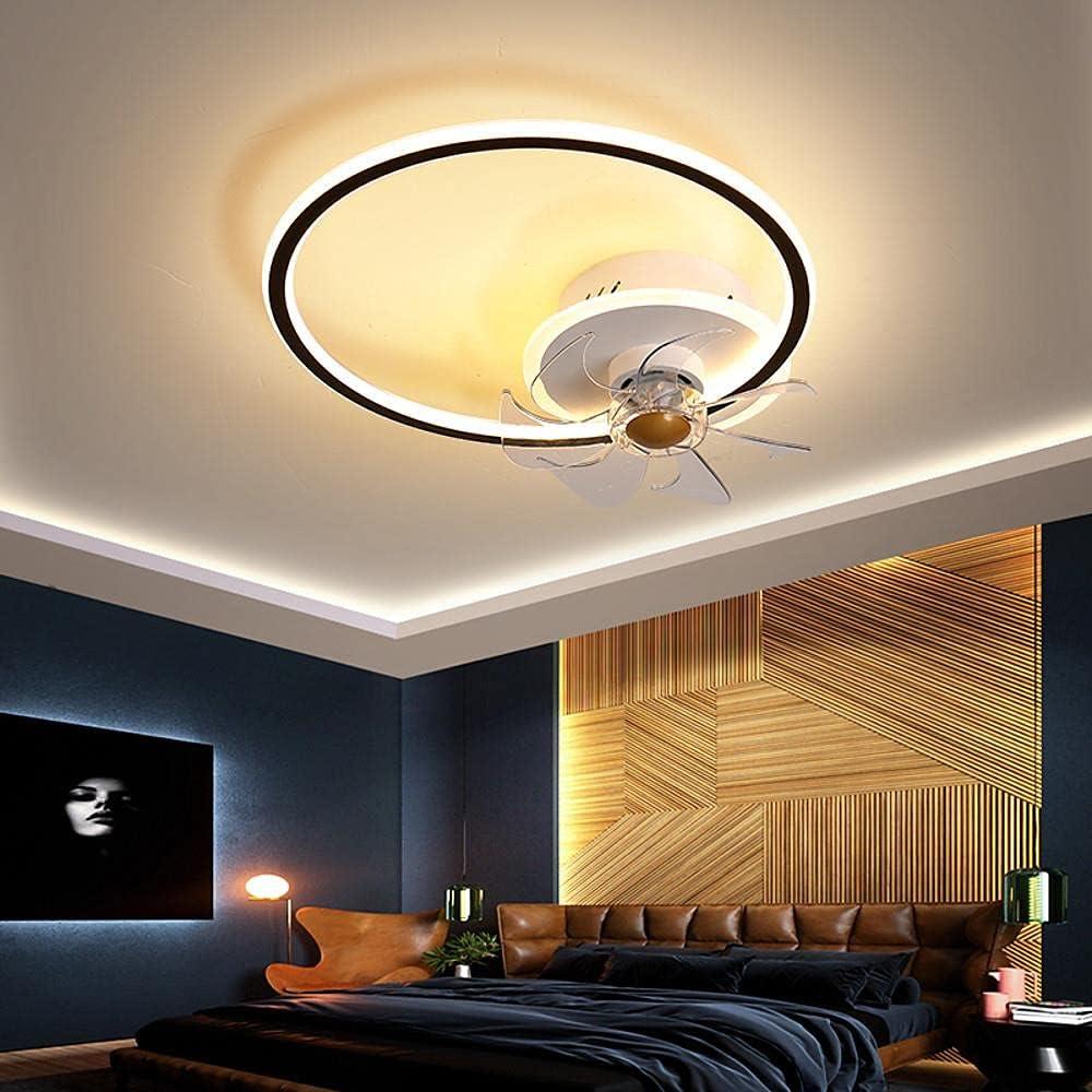 LED Techo Fan Light Circle Design Black + Gold White + Negro 45 cm Ventilador de techo Aluminio Estilo Moderno Classic Novedad Pintado Acabados LED Estilo Nórdico 220-240V 110-120V