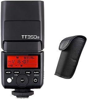 Godox TT350N 2.4G HSS de Alta Velocidad Sync 1 / 8000s TTL GN36 Flash Speedlite Light para cámara Digital sin Espejo Nikon + difusor NAMVO