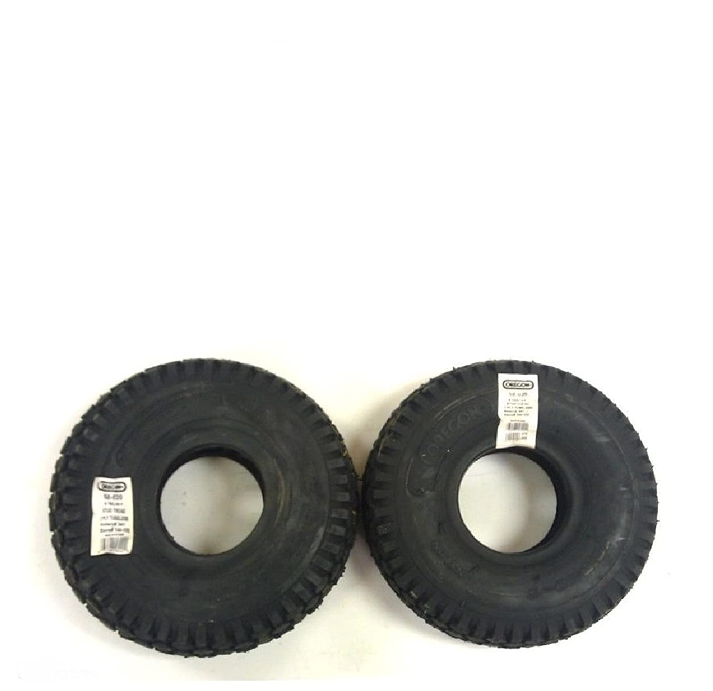 Oregon 58-020 Pack of 2 Go Kart Stud Tires, 2 Ply - 4.10 x 3.50 x 4 ftaegzzunod4