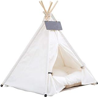 Tipi tält för husdjur hundtält katttält med kudde hem och tält för hundar och katter husdjur