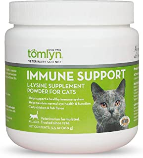 Tomlyn Immune Support Daily L-Lysine Supplement, Fish-Flavored Lysine Powder for Cats and Kittens, 3.5oz