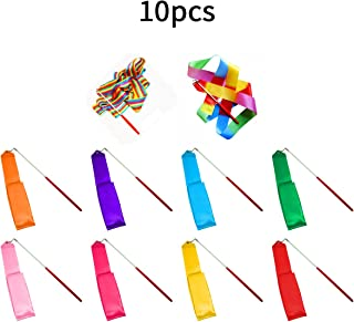 SunbowStar Gymnastic Ribbon 2M GYM Dance Rythemic Twirling Exercise Art Rod Stick 10pcs