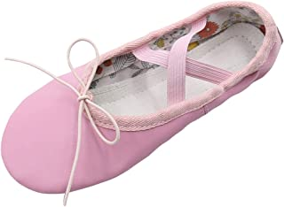 smileyes Pink Goatskin Dance Ballet Shoes for Girls