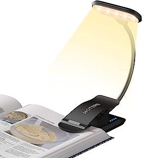 HOTERB Lampka do czytania, zaciskowa LED, 9 diod LED, lampa łóżkowa, 3 tryby 360°, elastyczna lampka do książek, włącznik ...