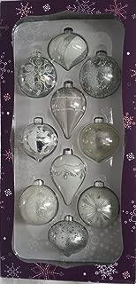 Kirkland Signature 10-Piece Hand-Decorated Glass Ornaments