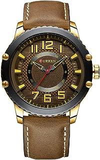 Lixada 8341 Man Quartz Watch Waterproof Alloy Case Hardlex Mirror Genuine Leather Strap Male Wristwatch