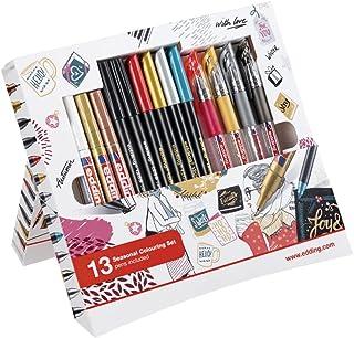 edding Set met seizoensgebonden bijpassende kleuren - 4 stiften in herfst- en winterkleuren voor de creatieve vormgeving o...