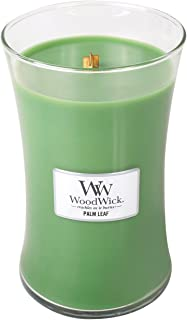 WoodWick Palm Leaf, Highly Scented Candle, Classic Hourglass Jar, Large 7-inch, 21.5 oz