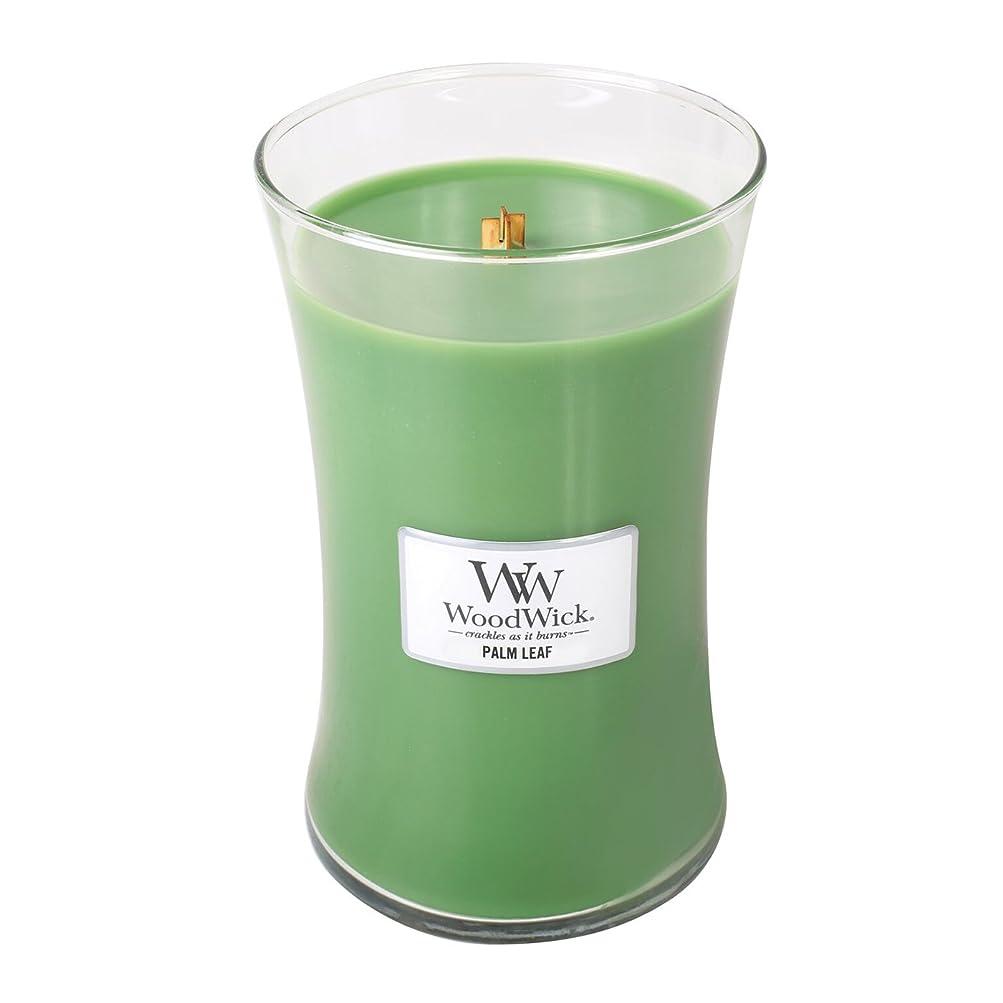 発音オール急行するWoodWick PALM LEAF, Highly Scented Candle, Classic Hourglass Jar, Large 18cm, 640ml