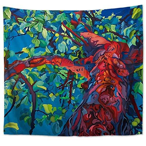 jtxqe Pintura al óleo Pintada árbol Tapiz Playa Toalla Manta 9 150 * 200