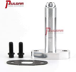Pulsar Extended -10AN T3 T4 Oil Drain Flange for PRECISION TURBONETICS GARRETT Turbos
