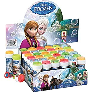 Disney FROZEN Bubble Tubs (60ml) - Ideal for Party Bags, Gifts, Pocket Money and Brithday Parties (1 Tub)