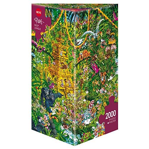 Heye HY29892 Puzzles-Triangular, 2000 Pc-Deep Jungle
