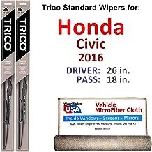 Best honda civic 2016 wiper replacement Reviews