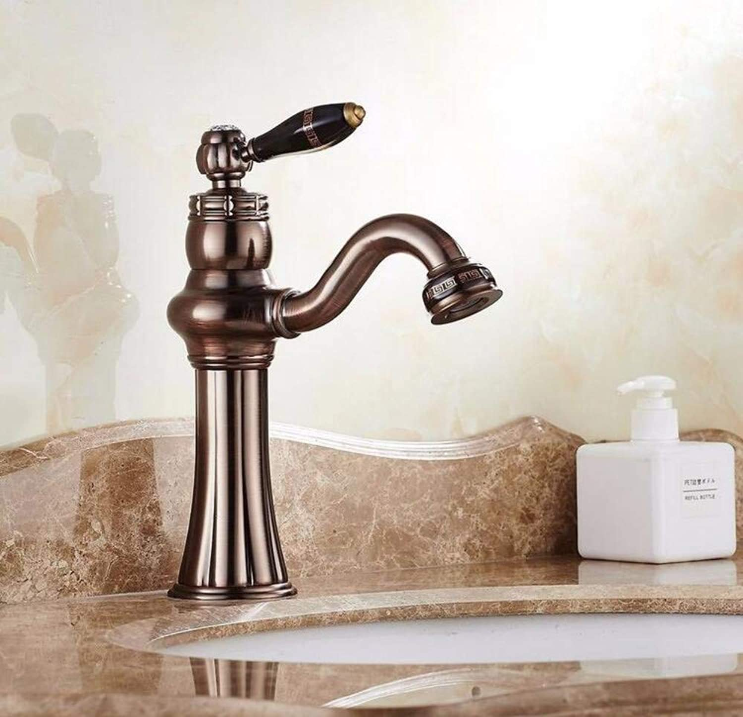 Modern Waterfall Copper Hot and Cold Kitchen Sink Taps Kitchen Faucet Modern Retro redary Faucet Single Hole