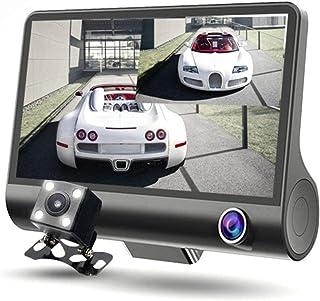 Cumtur-JA 三重カメラ ドライブレコーダー Car DVR 車内外同時録画 1080P Full HD 夜間視力 G-センサー 4.0インチ画面