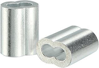 uxcell 2mm 5/64-inch Cable Wire Rope Aluminum Sleeves Clip Crimping Loop 100pcs