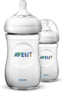 Philips Avent Natural Baby Bottle, Clear, 9oz, 2pk, SCF013/27