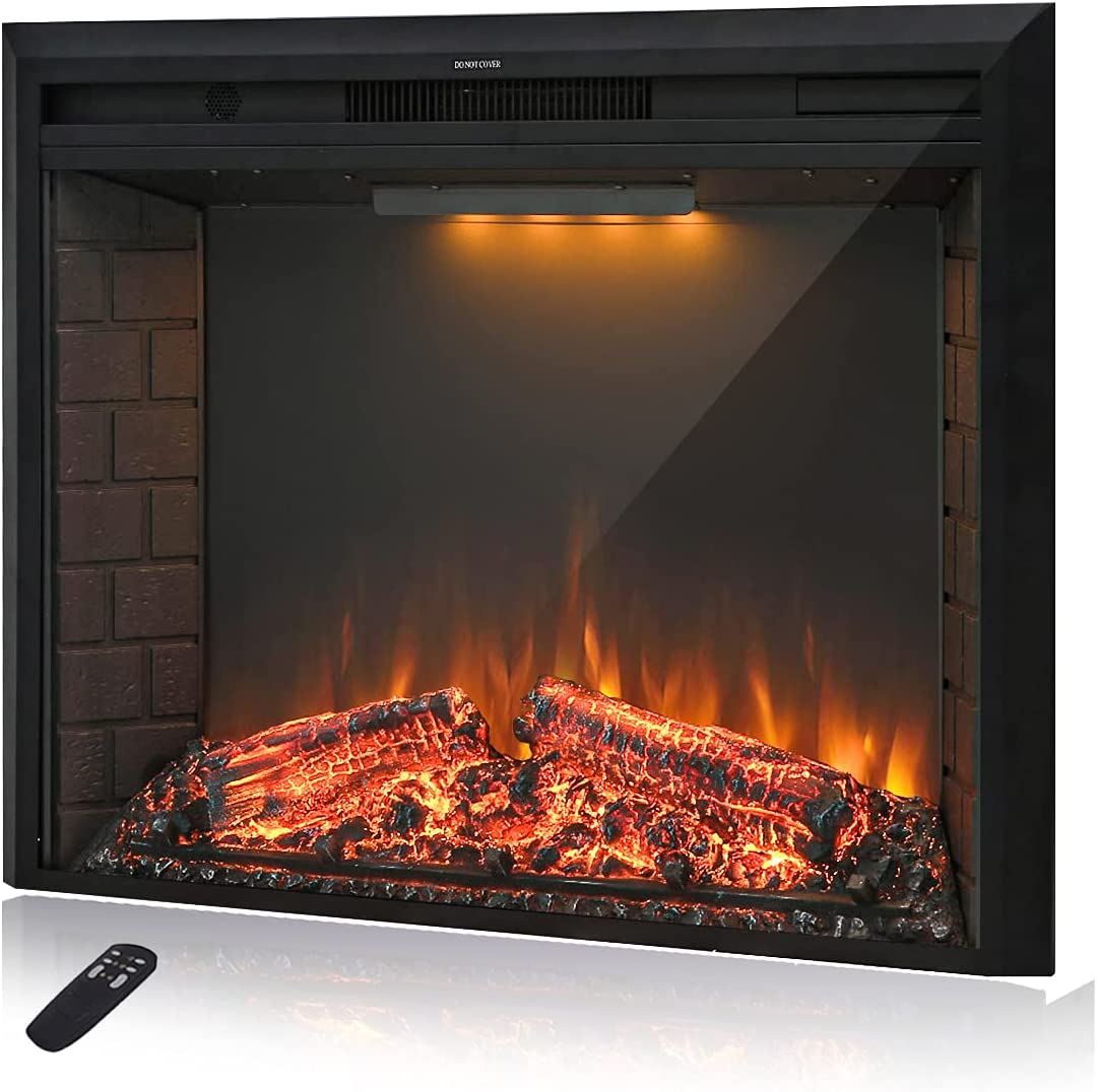 Buy Masarflame 20'' Electric Fireplace Insert, Retro Recessed ...