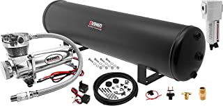 Vixen Air Suspension Kit for Truck/Car Bag/Air Ride/Spring. On Board System- 200psi Compressor, 5 Gallon Tank. for Boat Lift,Towing,Lowering,Leveling Bags,Onboard Train Horn,Semi/SUV VXO4852CF