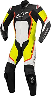 Alpinestars Motegi v2 Leather One-Piece Suit (56) (Black/White/Yellow/Red)