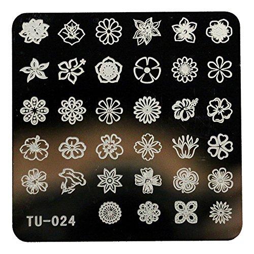 Nail Art Accessories, Babyee DIY Nail Art Image Stamp Stamping Plates Manicure Template TU-024