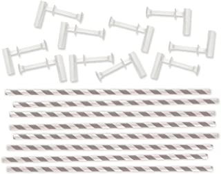 We R Memory Keepers 0633356713463 Board Punch Board & Punch-Pinwheel Straws-Gray (10 Piece)