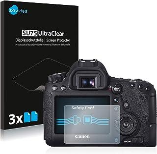 savvies Protector Pantalla Compatible con Canon EOS 6D (6 Unidades) Pelicula Ultra Transparente