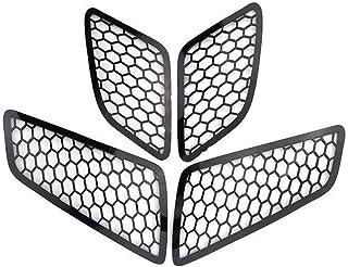 Ayame Cecilie Motorrad Aluminium Scheinwerfer Net Trim Schutz Schutz Lampe Ineinander greifen Abdeckung 4pcs gepasst for Vespa GTS 125 250 300 2017 2018 2019 Zubehör Cecilie (Color : Black)