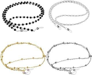 4 عدد عینک زنجیره ای عینک عینک رشته ای عینک زنجیره ای عینک زنجیره ای عینک بند بند بند هدیه برای زنان