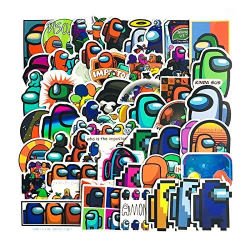 Fgolphd 50 Entre Nosotros De Dibujos Animados Lindo Juego De PVC Etiqueta De Graffiti Pegatinas Maleta De Equipaje Guitarra Impermeable Pegatinas (Color : YT94-50)