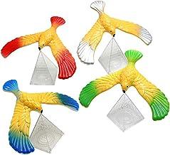 Balance Bird, 4 stuks zwevende vogel medium met piramidebasis Stressverlichter Vingerspeelgoed Balancerend vogelspeelgoed ...