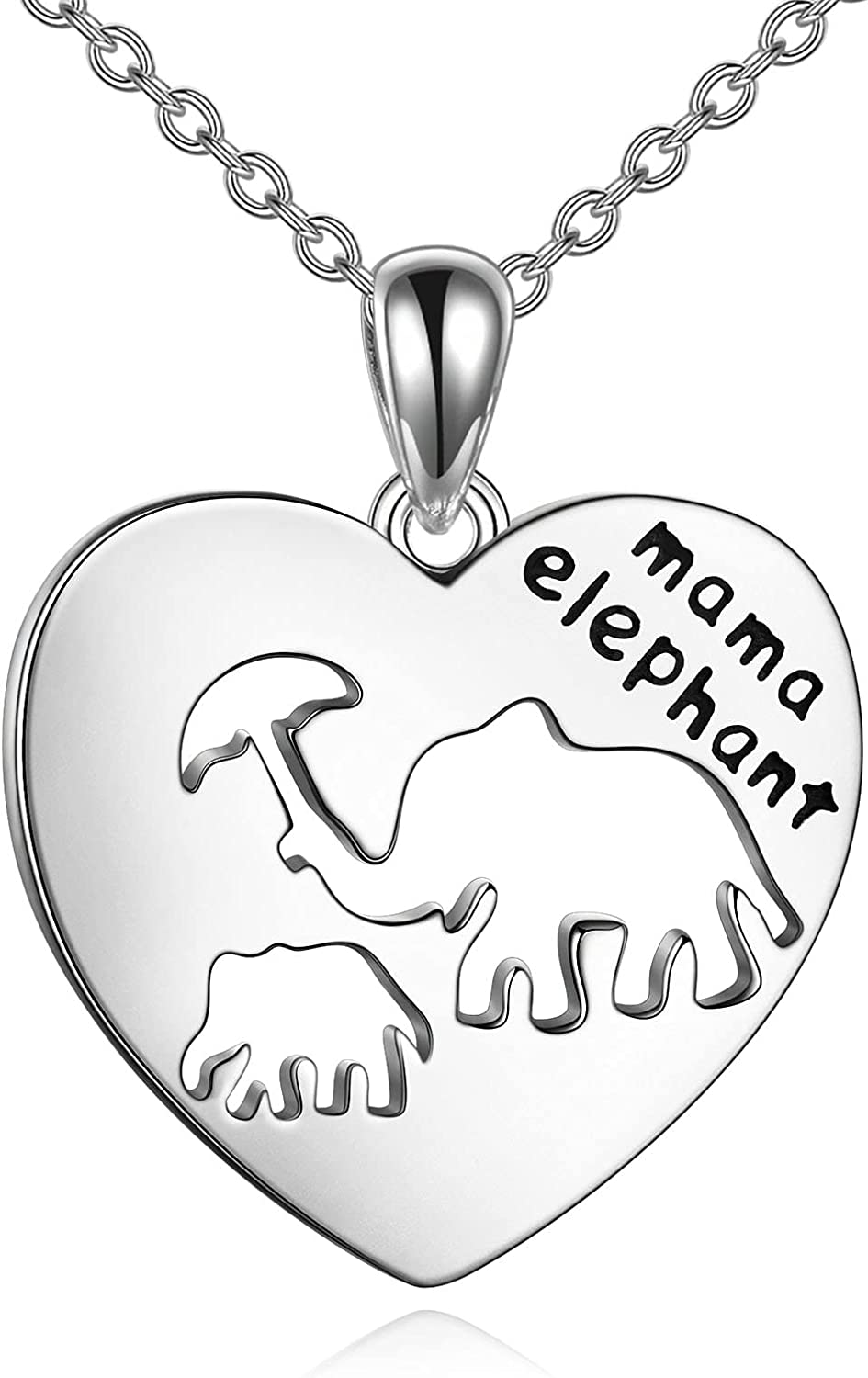 Elephant Necklace for Mom Sterling Mother Daughter Charlotte Mall Neckla Silver price