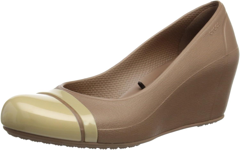 Crocs Women's Cap Toe Wedge Black