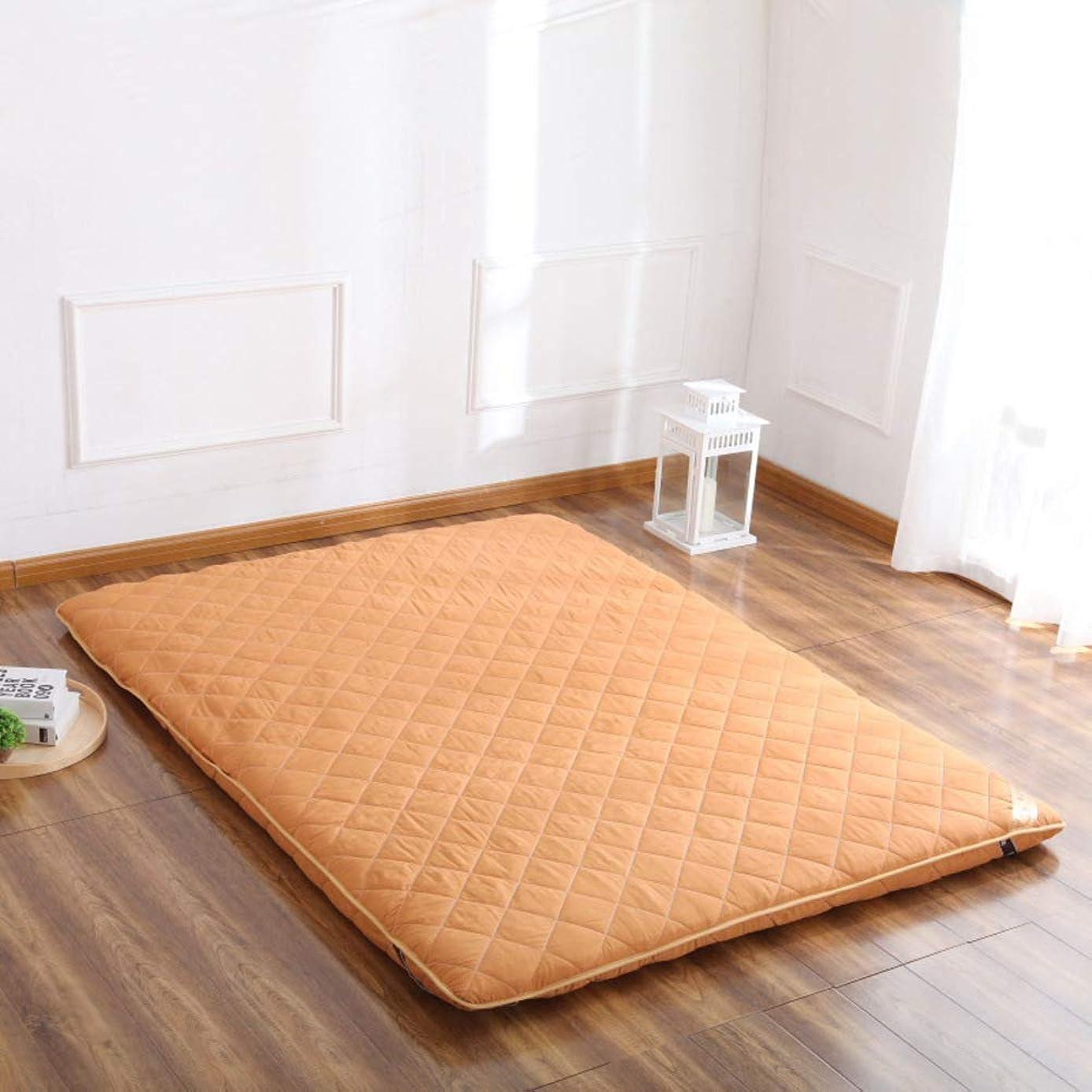 スポーツの試合を担当している人を除くウミウシ厚め マットレス パッド, 日本布団畳のマットが眠っています。 キルティング ダウン ベッドパッド 学生のため 寮 ホーム-イエロー
