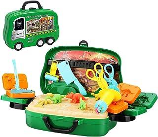 Achort Juegos Dinosaur Kits 24pcs Herramientas de Plastilina Inteligentes No Tóxica DIY Modelado Craft Set Arcilla y Masa de Modelado, Arte Creativo DIY Crafts, Regalo para niños