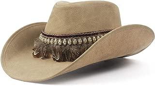 QinMei Zhou 2019 New West Cowboy Hat Fashion Faux Leather Metal Pistol Decoration Sombrero Western Men Women Cap