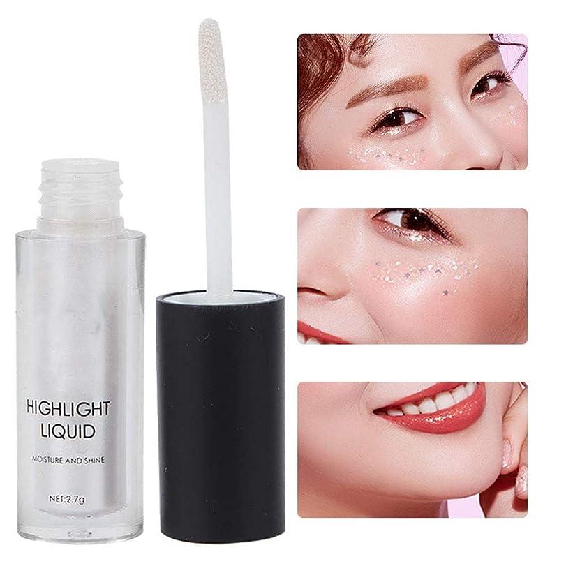 液体蛍光ペン、輪郭を明るくするための3Dグリッター防水蛍光ペン、カイコ、ステレオ化粧用に輝くシマー隠し(1)