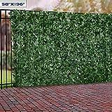 "Windscreen4less Artificial Faux Ivy Leaf Decorative Fence Screen 58.5"" x 196"" Ivy Leaf Decorative Fence Screen"