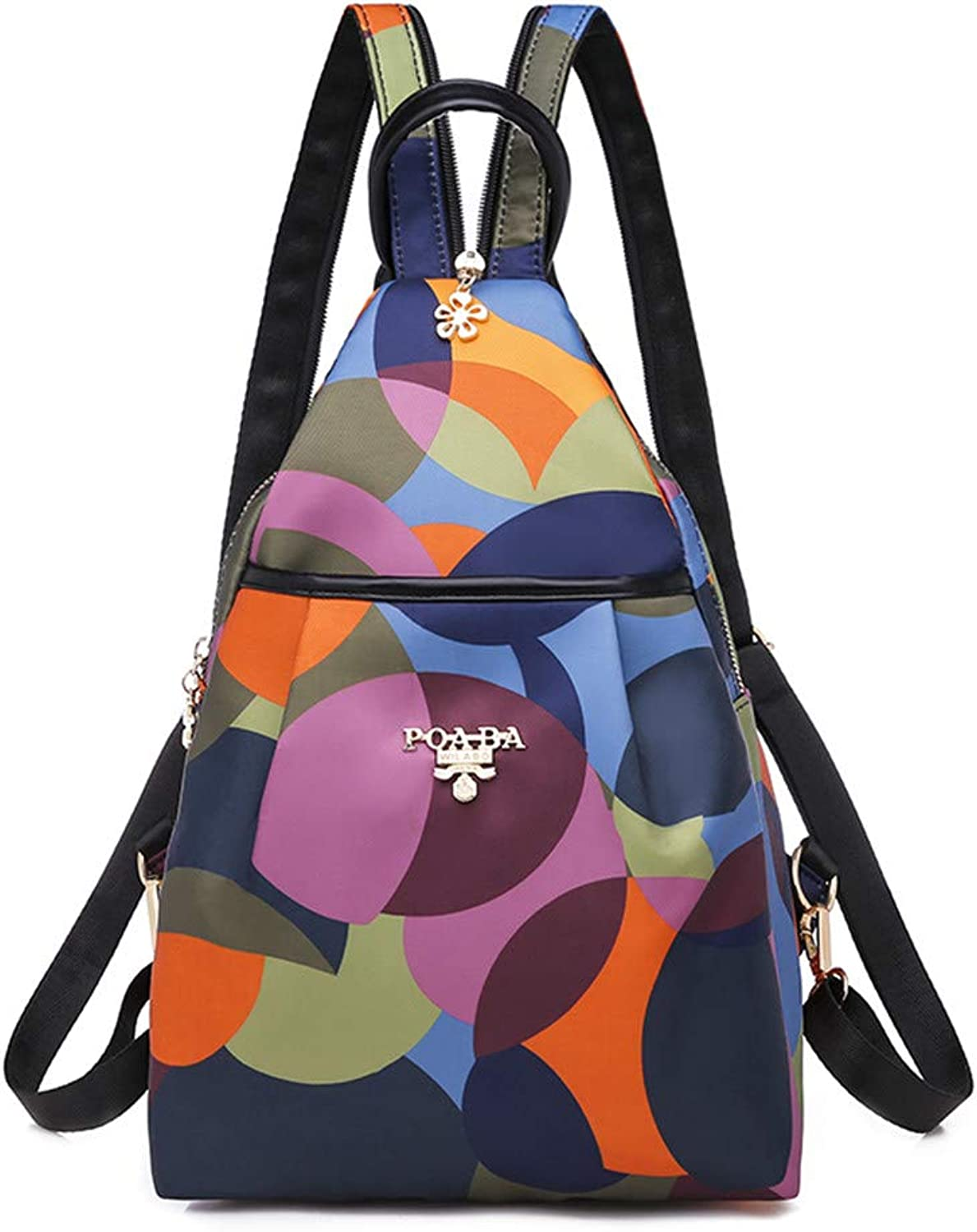 Women's Backpack Multicolor Backpack Women's Oxford Cloth Backpack Crossbody Bag
