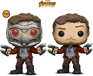 Warp Gadgets Bundle - Funko Pop Marvel Guardians of The Galaxy - Star Lord and Star Lord Masked Chase (2 Items)