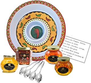 Sugar Skull Spoons with Hot Pepper Jelly   Serving Tray   Recipe Card Bundle