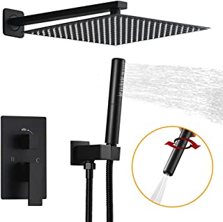 BESy Shower System with 12 Inch Rain Shower Head and Handheld Wall