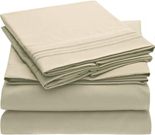 Mellanni Queen Bed Sheets - Hotel Luxury 1800 Bedding Sheets & Pillowcases - Extra Soft Cooling Bed Sheets - Deep Pocket u...