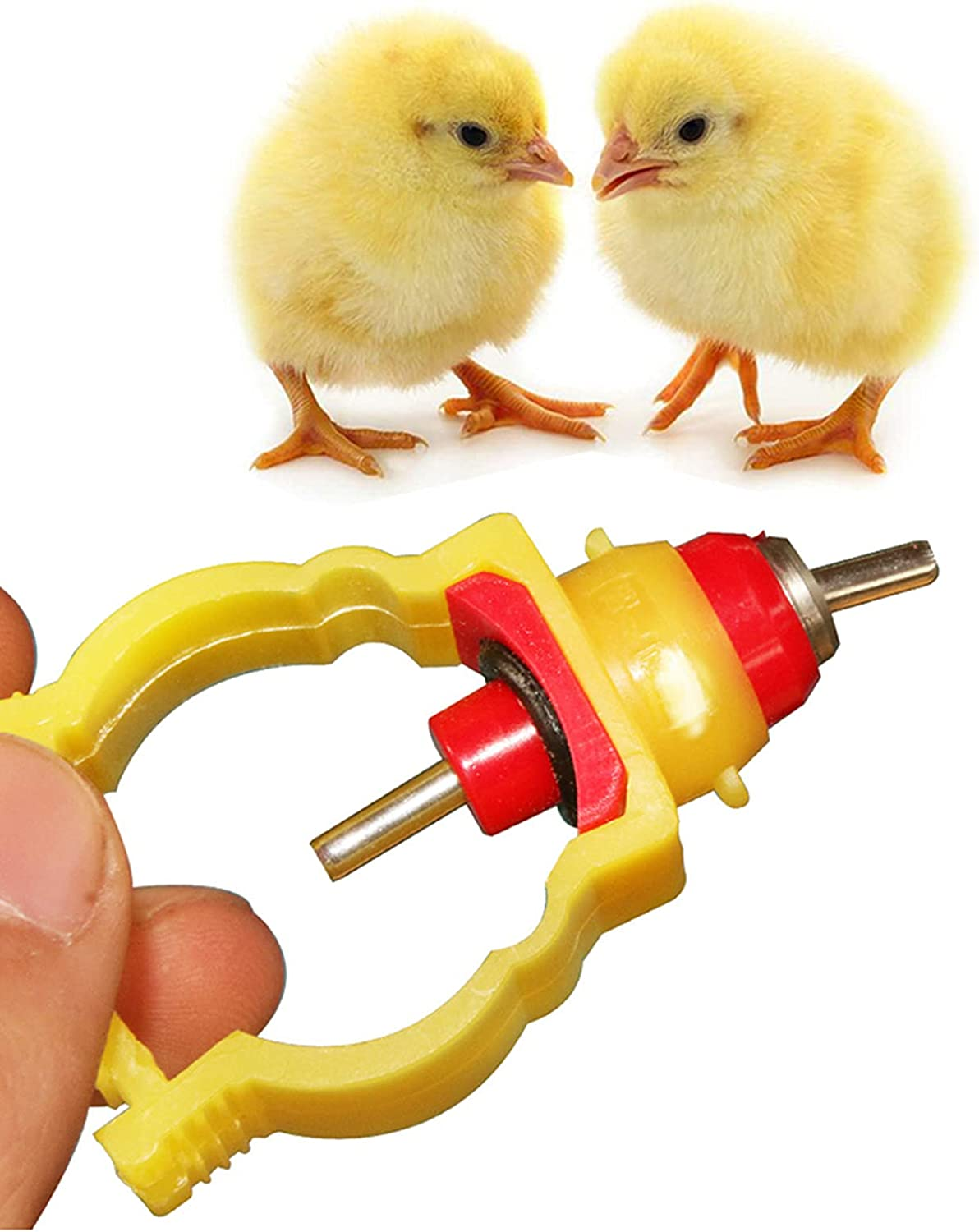 HSART 2021 sold out spring and summer new 100pcs Chicken Feeder Nipples Plastic Poultry Ball Metal