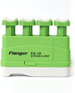 Hand Finger Master Exerciser Strengthener for Guitar Piano or Therapy, Tensions from 3,5,7 lbs, Great Gift for Guitar Beginner Hand Exerciser Finger Strengthener Trainer, FA-10, Green - 5 lbs