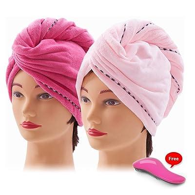 Nelipo Hair Towel - Microfiber Hair Towel - 2 P...