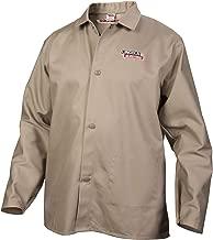 Lincoln Electric Premium Flame Resistant (FR) Cotton Welding Jacket   Comfortable   Khaki / Tan   Medium   K3317-M