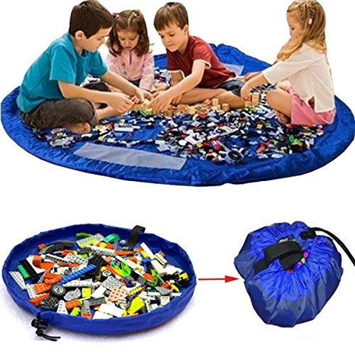 OUTERDO Spielzeug Beutel, Spielzeugaufbewahrung Tasche , Strandspielzeug Tasche, Spielzeugteppich für kinder, Aufräumsack für Spielzeug, Spielzeug Speicher Tasche, Aufräumsack Spieldecke kinder XL